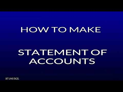 HOW TO MAKE STATEMENT OF ACCOUNT IN EXCEL