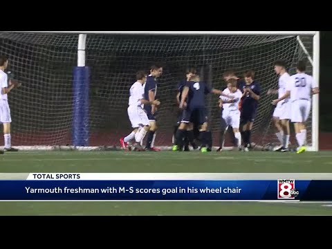 Wheelchair does not stop Yarmouth teen from scoring a goal