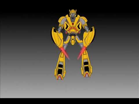 Cybertronian Bumblebee Transform-Short Flash Transformers