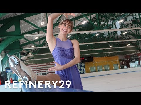 I Trained Like A Professional Figure Skater | Lucie For Hire | Refinery29