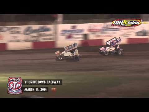 Highlights: World of Outlaws STP Sprint Cars Thunderbowl Raceway March 14th, 2014