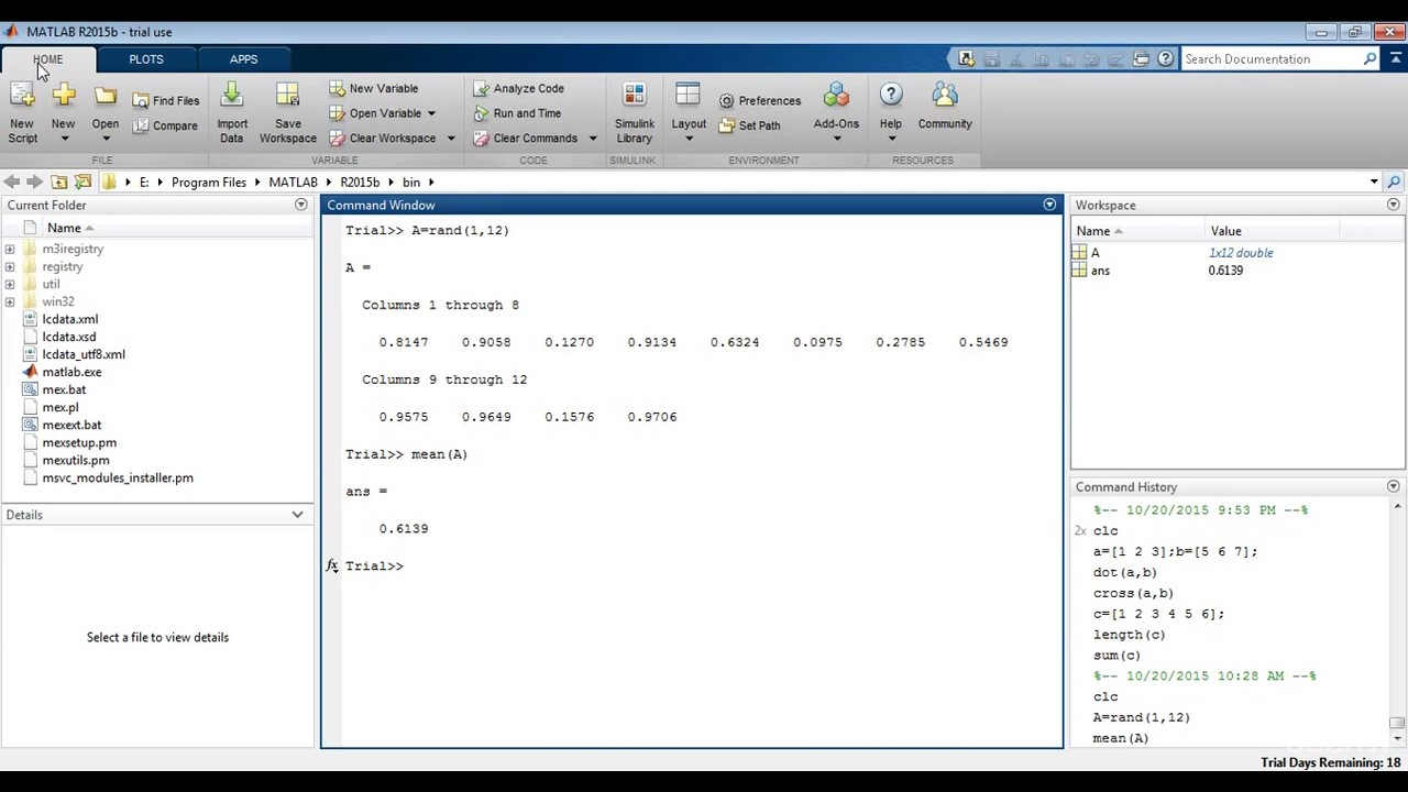 How To Find Mean, Standard Deviation And Median In Matlab
