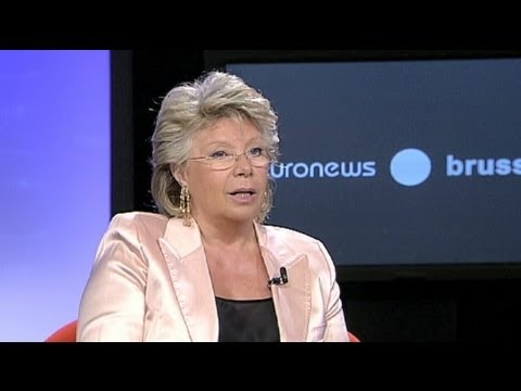 "euronews interview - Viviane Reding, Vice President of the European Commission: ""Democracy is not an easy endeavour"""