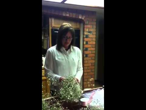 Baby's breath bouquet demonstration