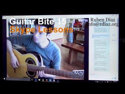 Skype lesson with Walter Stella (phrasing) Guitar Bite #15 / Learning flamenco online