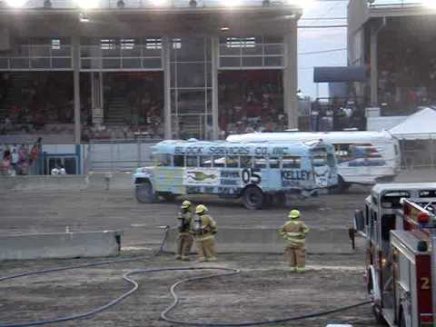 Erie County Fair Americas Fair Hamburg New York School Bus Demo Derby