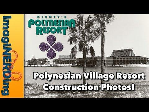 Polynesian Village Resort Construction Photos (Bonus Golf Resort Photos)