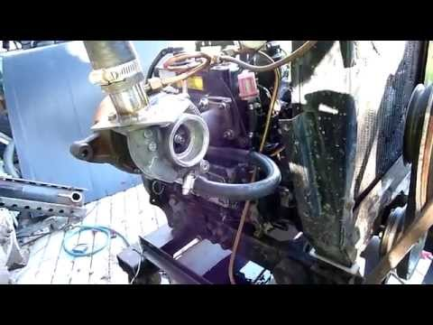 Yanmar 3cyl TURBO diesel test run