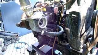 Yanmar 3cyl TURBO diesel test run