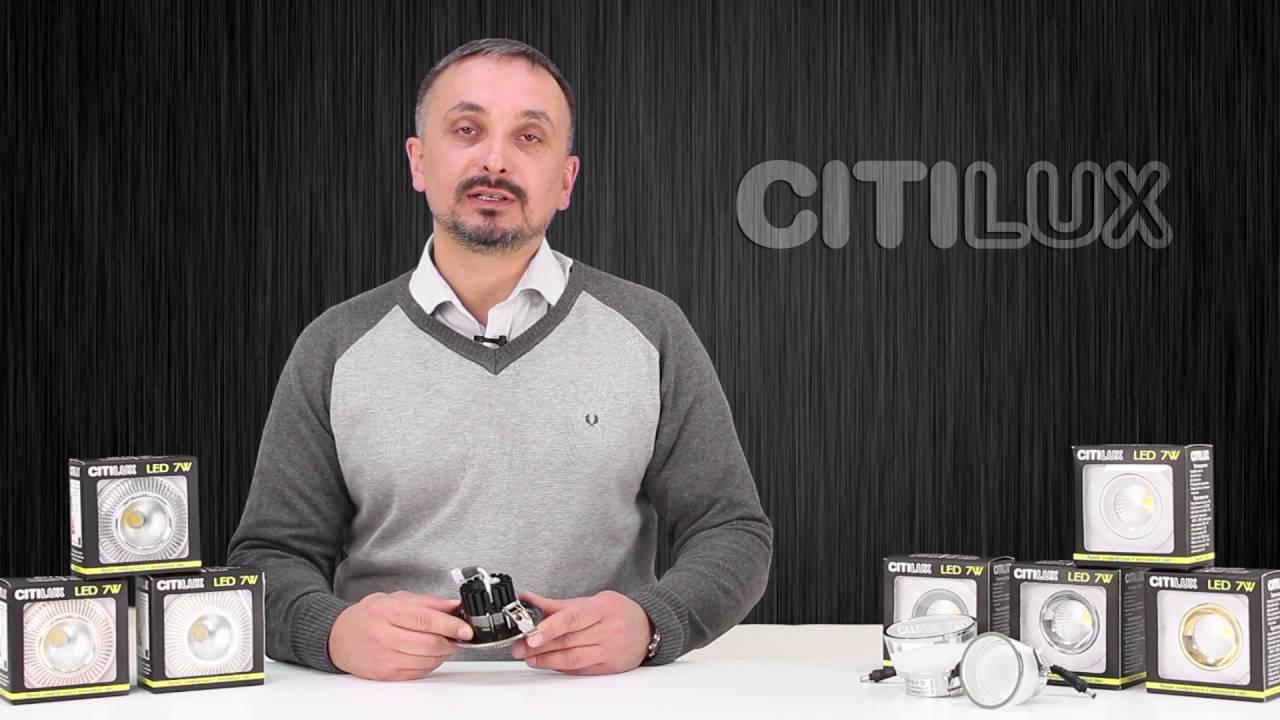 Встраиваемый светильник светодиодный Citilux Дзета CLD042W0 Белый