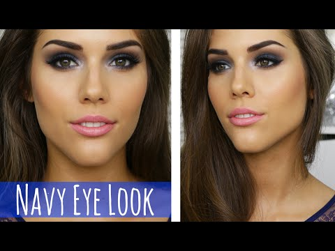 BLUE SMOKEY EYE MAKEUP...