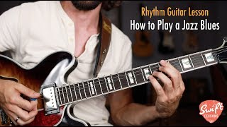 How to Play a Jazz Blues Chord Progression on Guitar