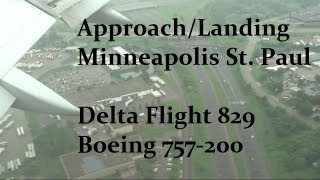 Boeing 757-200 Landing Minneapolis/St. Paul (Delta Flight 829)