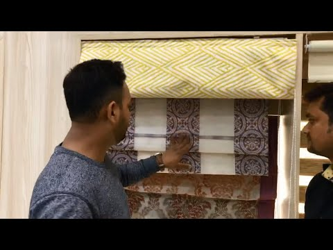 Roman Blinds Design & Price Details Video In Hindi