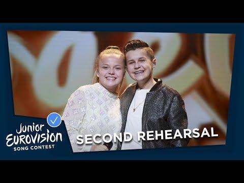 Max & Anne - Samen - Second Rehearsal - The Netherlands 🇳🇱 - Junior Eurovision 2018