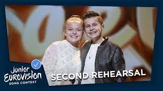 Max & Anne - Samen - Second Rehearsal - The Netherlands  - Junior Eurovision 2018