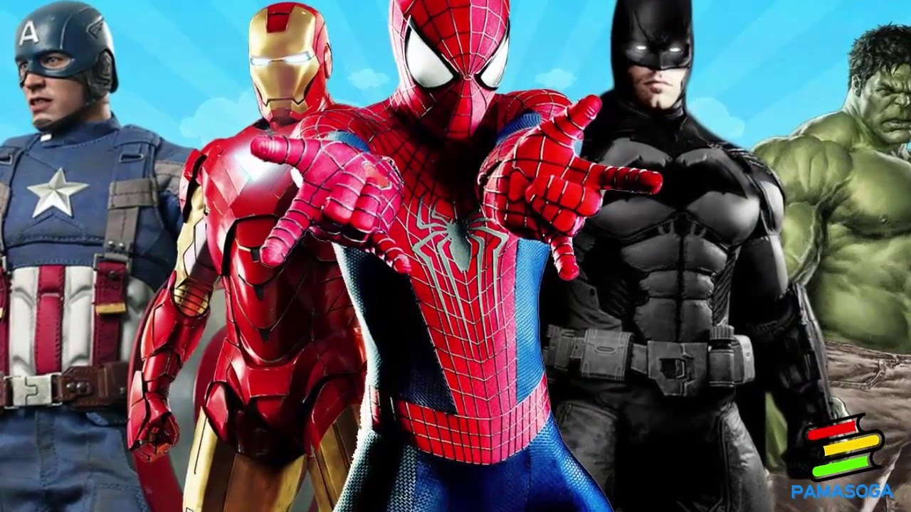 SPIDERMAN, BATMAN, IRONMAN, HULK, THOR, CAPTAIN AMERICA ...