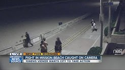 Fight in Mission Beach caught on camera