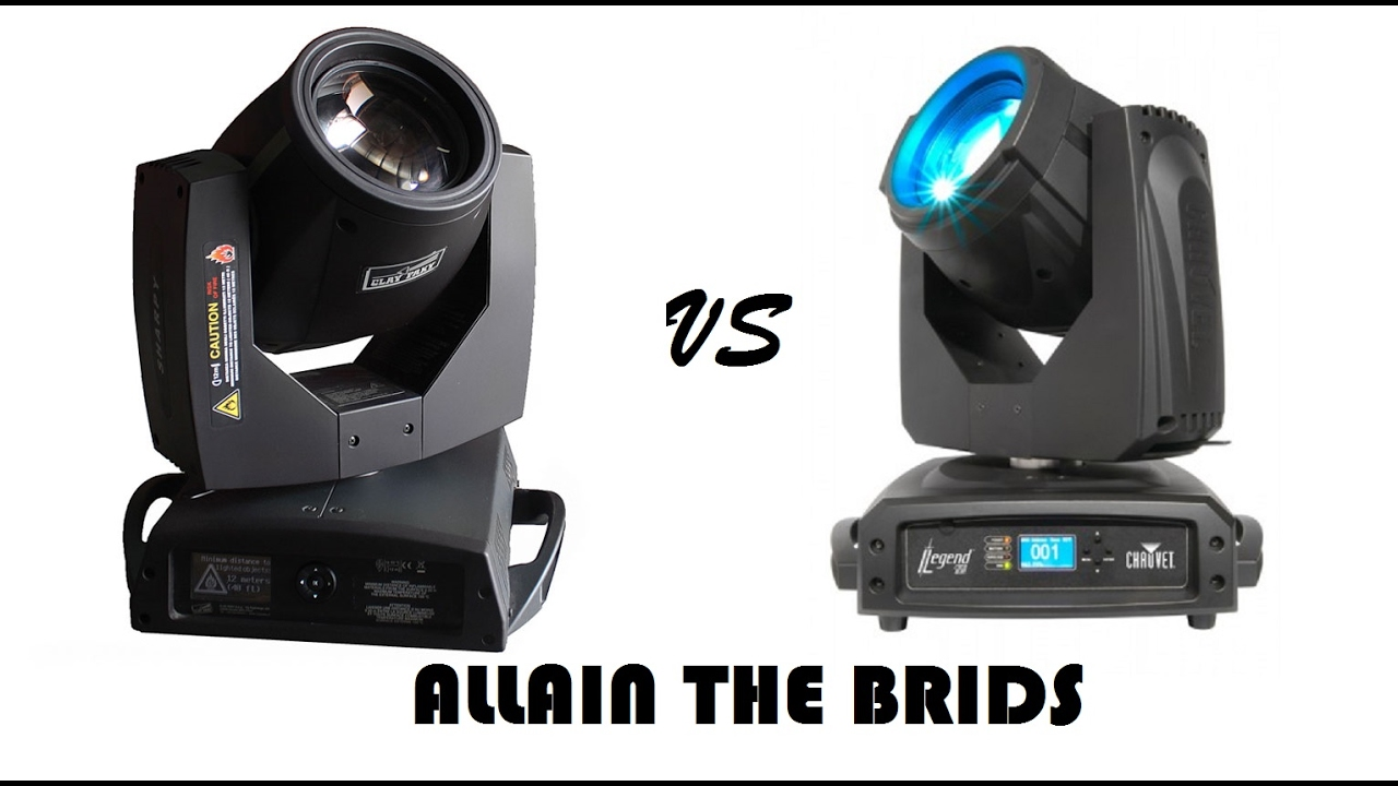 Chauvet legend 230 sr vs clay paky sharpy