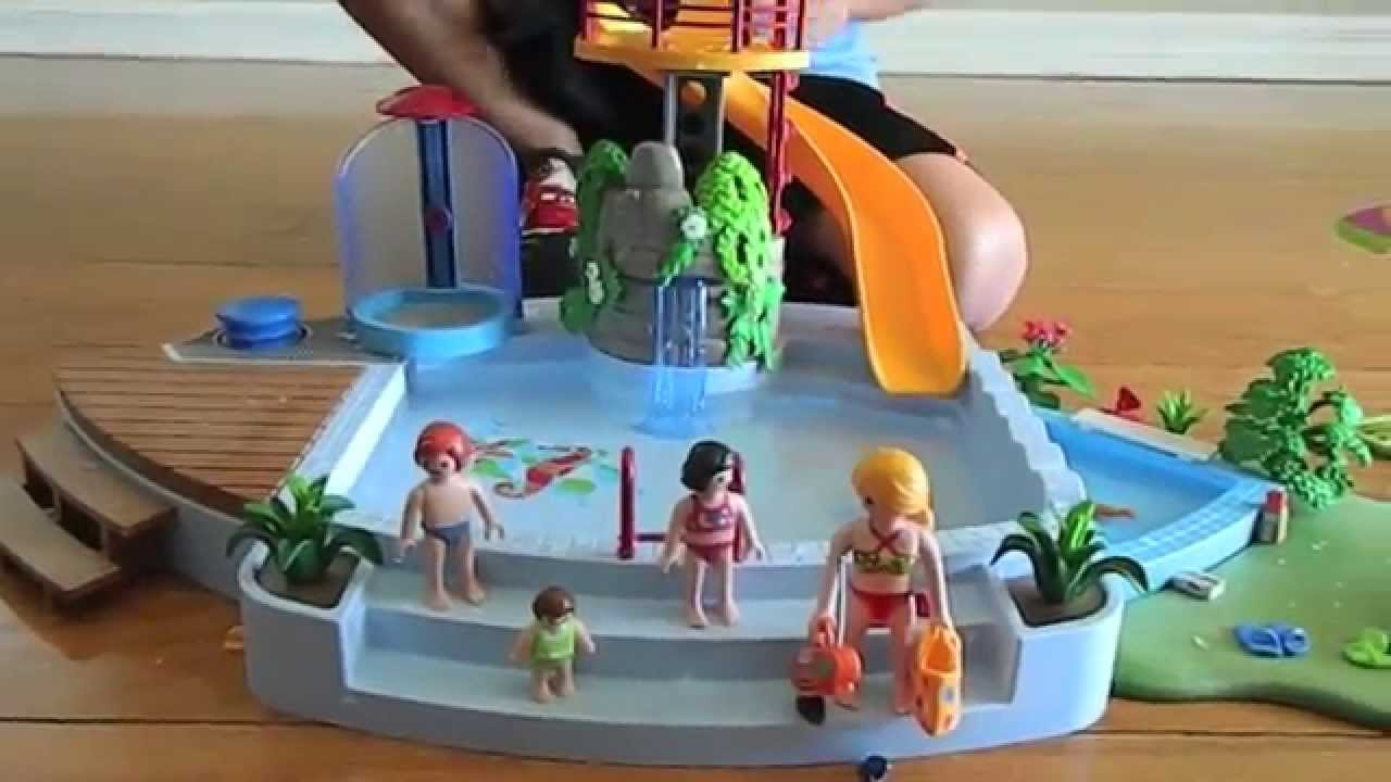 Playmobil Summer Fun Pool With Slide Play Set 4858 Youtube