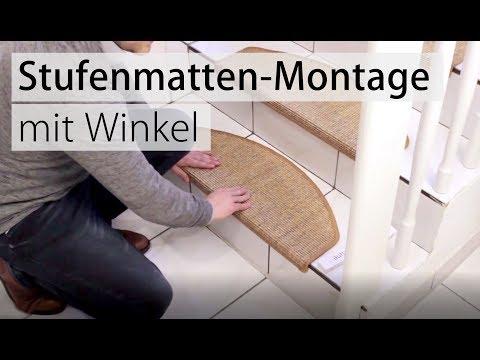 Stufenmatten verlegen und richtig montieren. Die Anleitung von ...