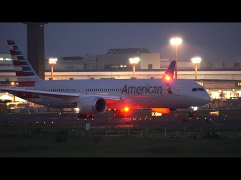 American Airlines Boeing 787-9 N824AN Takeoff From NRT 16R