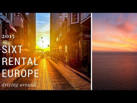 Driving around Europe, rental car Sixt