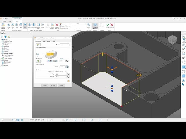 2D Machining Improvements - PowerMill 2019