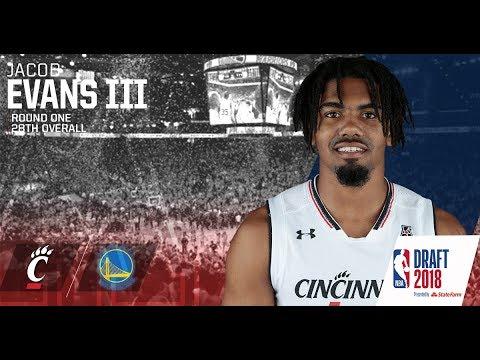 62a88a3a565 Cincinnati Guard Forward Jacob Evans Selected In 2018 NBA Draft ...