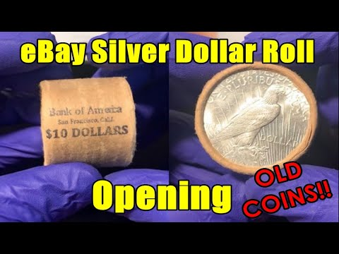 TOOK A CHANCE! - EBAY SILVER DOLLAR ROLL OPENING! - DID WE HIT THE MOTHERLODE $$$