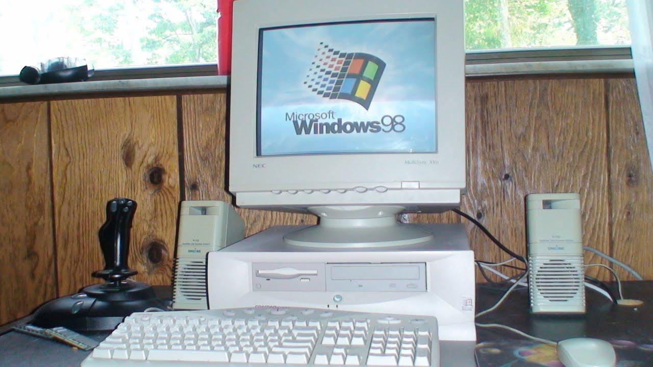 1998 Compaq Presario 2510 running Windows 98 - YouTube