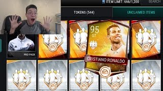 Fifa mobile new 95 totw ronaldo pack opening!! totw 4 fifa 17 mobile packs