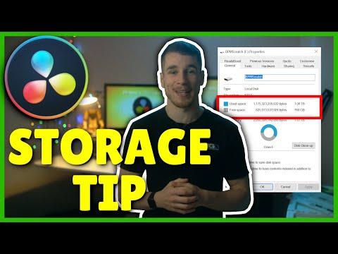 Avoid Filling Storage in Davinci Resolve
