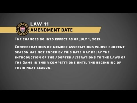Laws of the Game: 2013-14 Amendments to the Laws of the Game