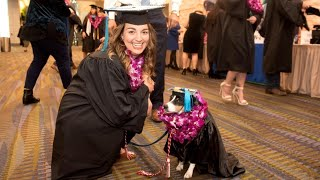 26-Year-Old Graduates from College with Service Dog by her Side