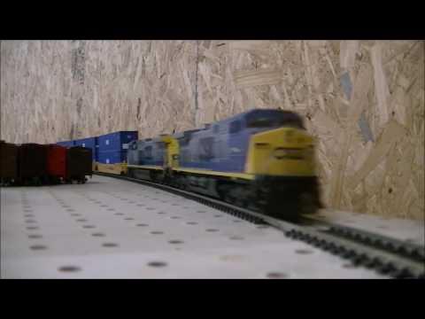 CSX model train very fast