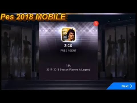 Pes 2018 Mobile Free Pack LEGENDS Get Zico - Vidozee