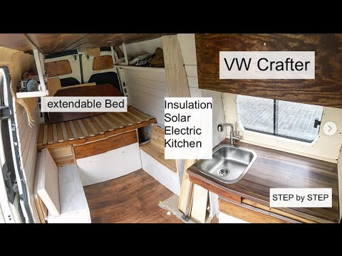 Full Van Conversion of a VW Crafter / DIY Campervan / Vanbuild for Couple + Dog