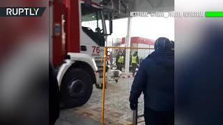 Пожар на рынке «Садовод» в Москве: видеокадры с места происшествия