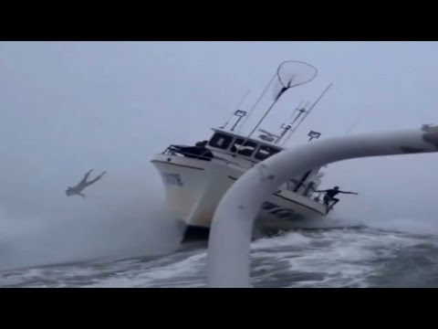 Giant Wave Hits Boat And Surfer Is Cast Into The Sea At Mavericks - Giant wave hits cruise ship