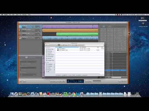 How to save your Garageband to Courses folder