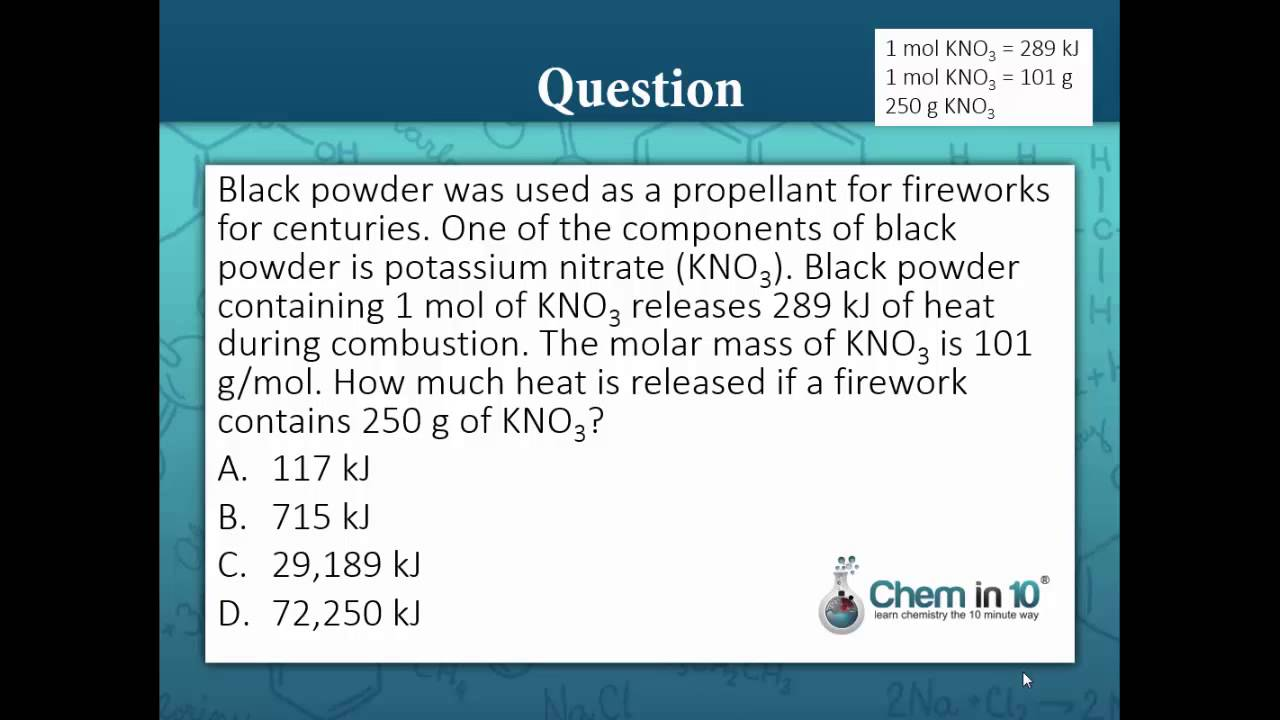 Calculate the heat released from combustion of potassium nitrate calculate the heat released from combustion of potassium nitrate gamestrikefo Gallery