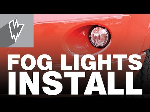 How to install Ford Transit Fog Light Kit