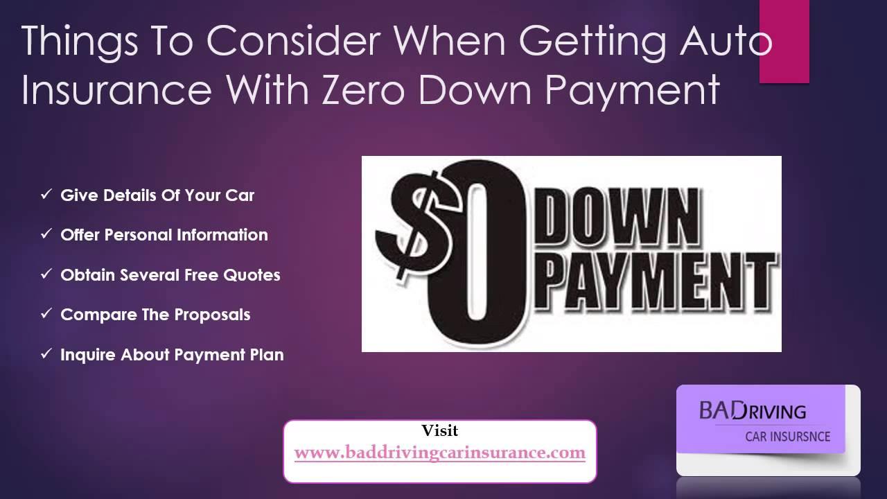 Get Car Insurance Without A Down Payment