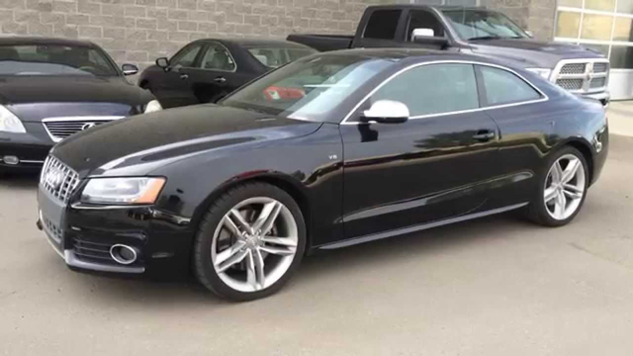 pre owned black on black 2012 audi s5 2dr cpe manual