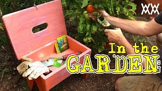 Handy gardening stool also carries supplies. Fun outdoor woodworking project! Thumbnail