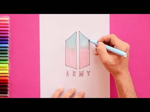 how to draw bts army logo youtube how to draw bts army logo youtube