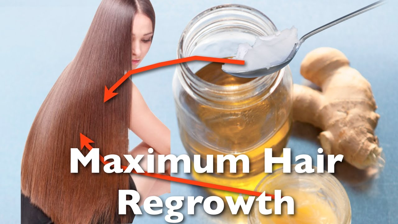 Maximum Hair Regrowth With This Ginger Coconut Oil Hair