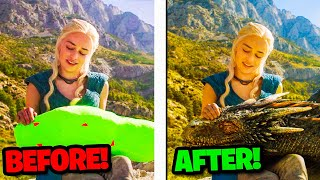 Popular Movies Before & After Special Effects