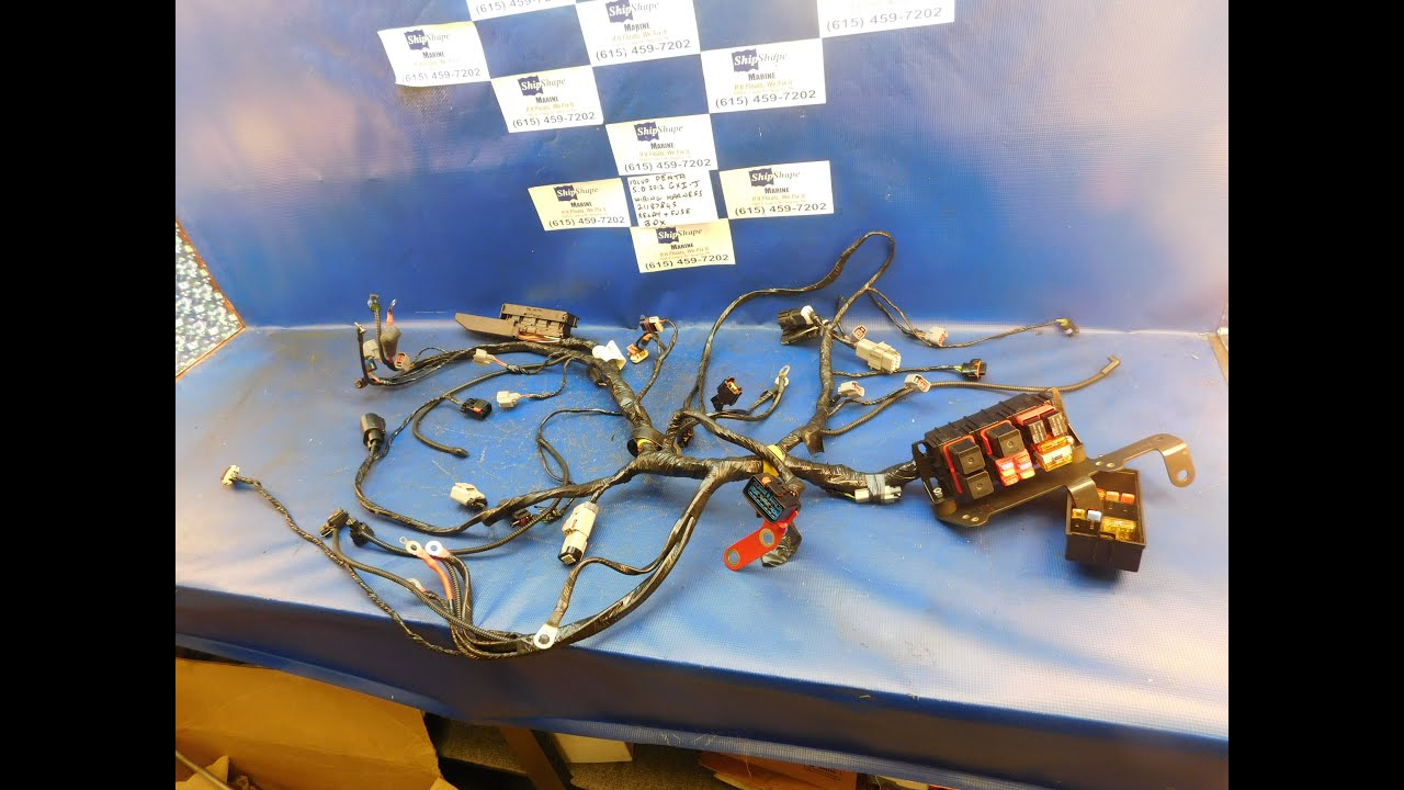 maxresdefault for sale wiring harness 5 0 2012 volvo penta efi mpi engine volvo penta wiring harness diagram at highcare.asia